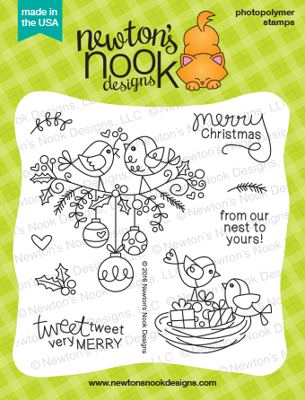 Holiday Tweets | Bird Christmas Stamp set by Newton's Nook Designs #newtonsnook