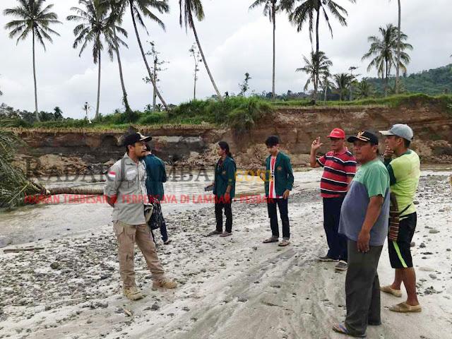 Way Warkuk Meluap, 10 Hektar Sawah di Buaynyerupa Rusak Parah