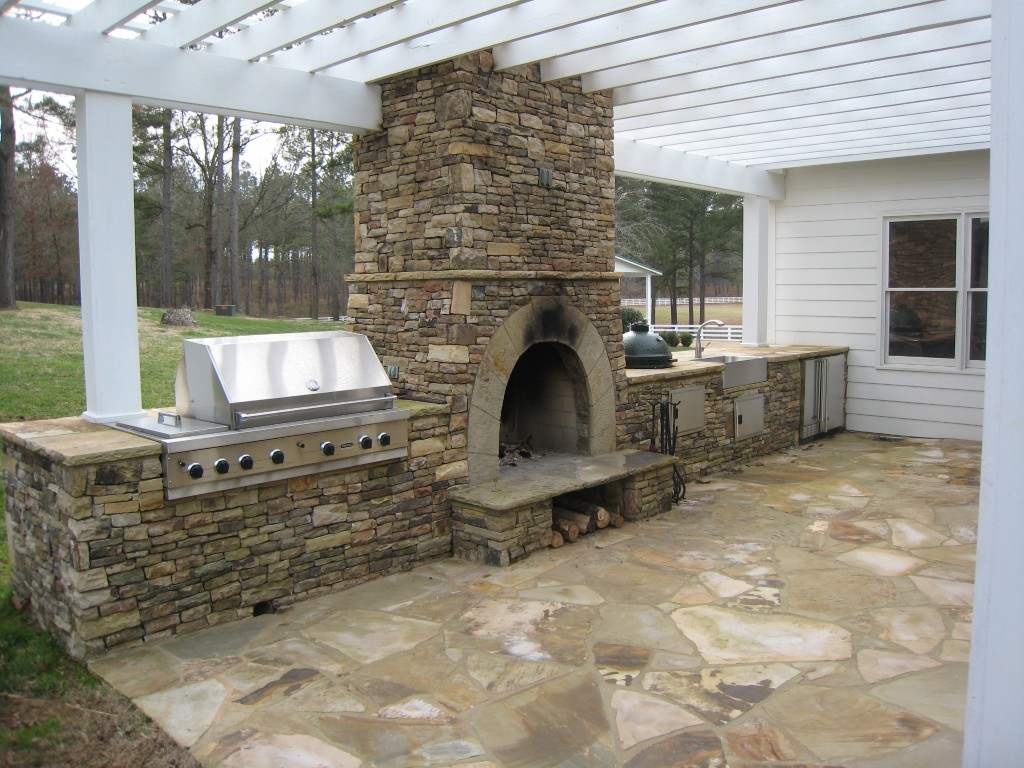 Outdoor Fireplace Kits for the DIYer - Shine DIY & Design on Backyard Chimney Fireplace id=11771