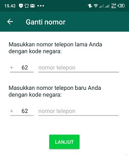 cara pemberitahuan ganti nomor whatsapp baru