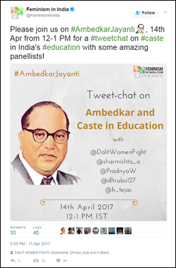 Twitter commemorates #AmbedkarJayanti with a special emoji