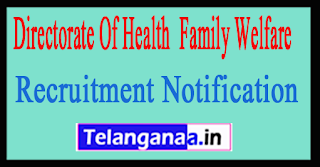 Directorate Of Health & Family Welfare Government of Punjab Recruitment Notification 2017