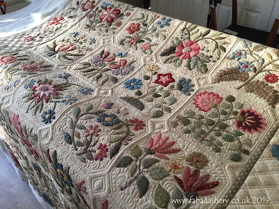 'Caswell Quilt' made by Julia,  quilted by Frances Meredith, Fabadashery Longarm Quilting