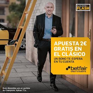 betfair promocion 2 euros gratis el clasico 1 marzo 2020