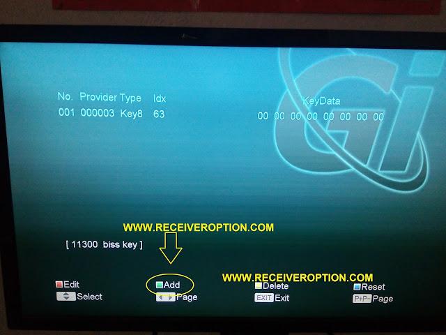 NEOSAT 550HD RECEIVER BISS KEY OPTION
