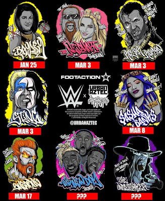 WWE x Urban Aztec Rumble T-Shirt Collection Series 2 by Jesse Hernandez x Footaction