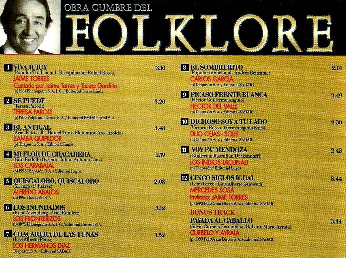 obras cumbres del folklore descargar contratapa