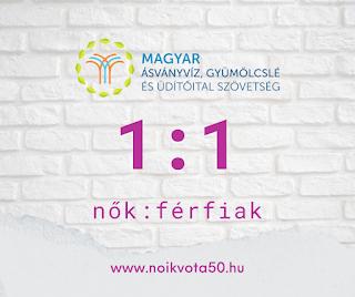 A Magyar Ásványvíz, Gyümölcsé és Üdítőital Szövetség vezetői között 1:1 a nők és férfiak aránya #G4