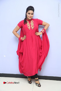 Actress Poorna Latest Stills in Red Dress at Rakshasi First Look Launch  0351.JPG