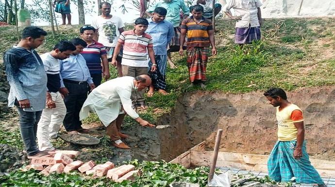 কচুয়ার সেঙ্গুয়ায় কালভার্টে ভিত্তিপ্রস্তর উদ্বোধন