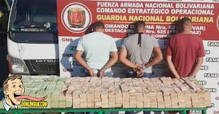 Tres detenidos por transportar 3.000 millones de Bolívares en efectivo