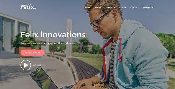 Felix v1.0.2 - Startup Landing Page tuyệt đẹp