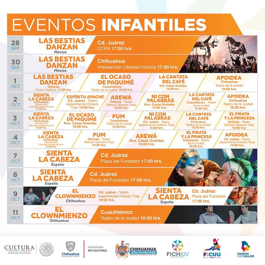 Cartelera Eventos Infantiles FICH 2018