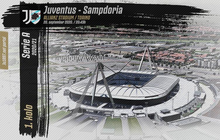 Serie A 2020/21 / 1. kolo / Juventus - Sampdoria, nedelja, 20:45h
