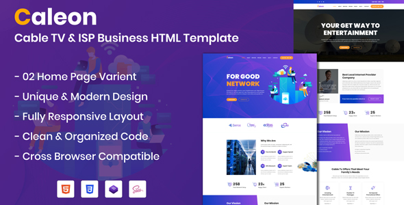 Cable TV & ISP Business Responsive Template