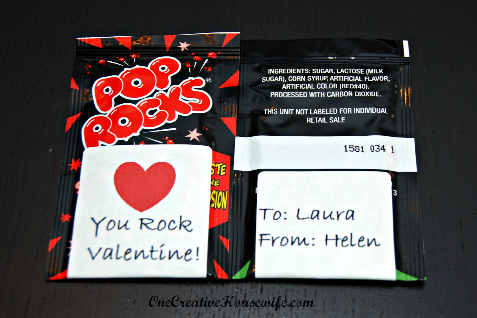 picture about Pop Rocks Valentines Printable named One particular Artistic Housewife: Pop Rocks Valentine Absolutely free Printable