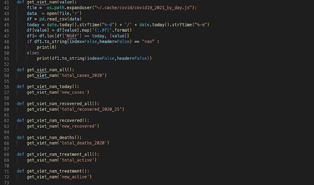 Reference - Ngẫu hứng lấy thông tin tình trạng Covid hiển thị lên Conky Desktop