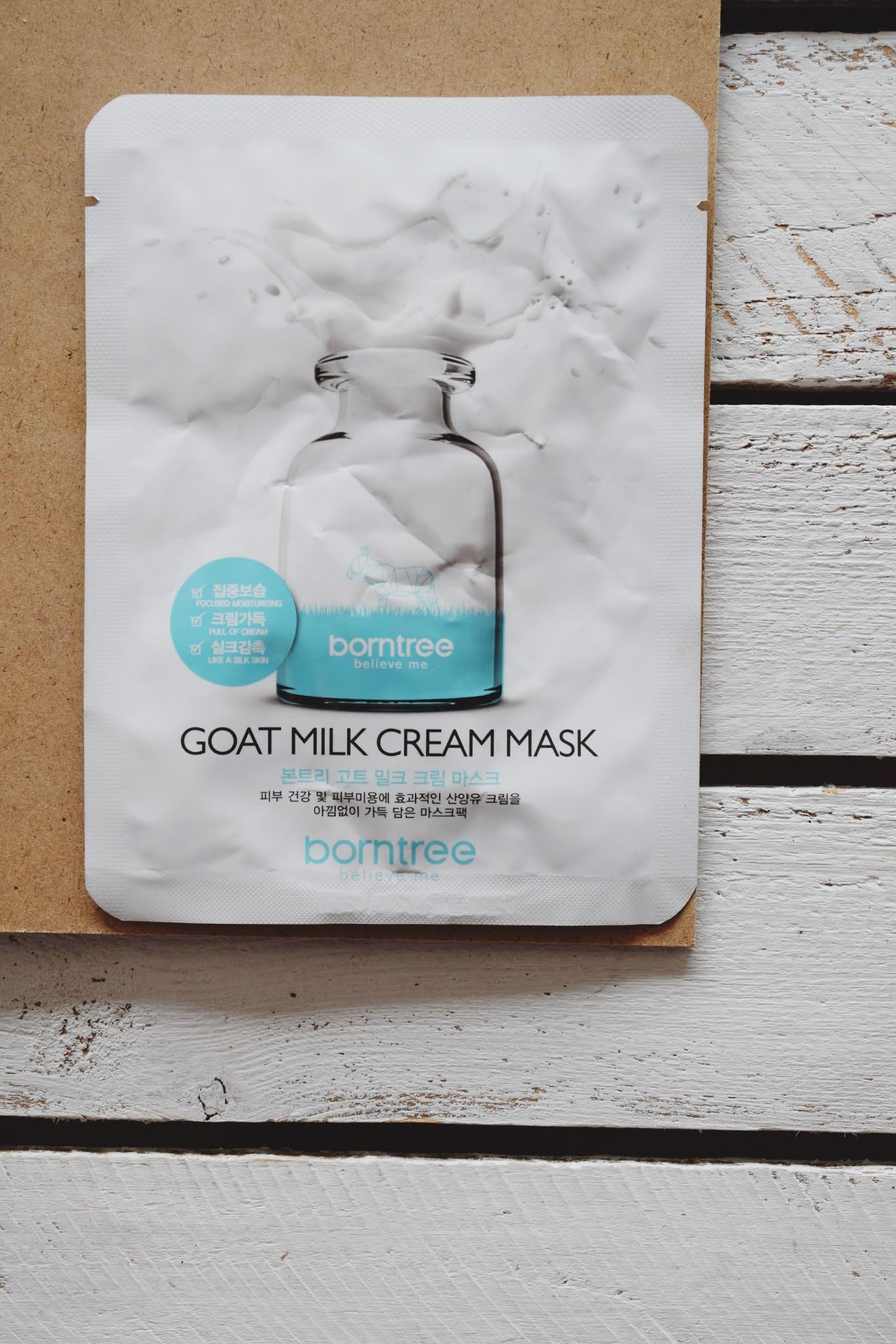 borntree, goat milk cream mask