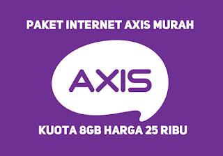 Cara daftar paket internet axis 8GB 25rb di jaringan 3G maupun 4G