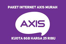 Paket Internet Axis Murah 8GB 25 Ribu 3G 4G