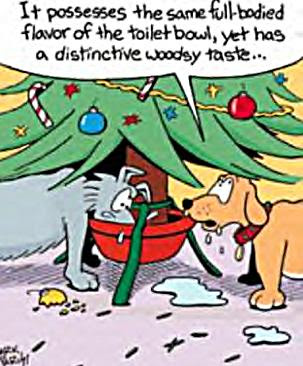 funny+christmas+joke+dogs+drinking+out+of+tree+bowl+comparing+taste+to+the+toilet+bowl.jpg