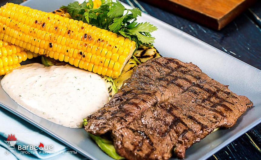 Бифштекс с кукурузой