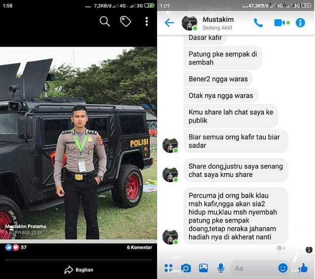 seorang polisi minta dishare chat nya