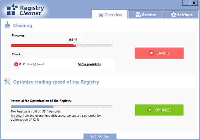 Screenshot Abelssoft Registry Cleaner 2020 v5.1 Full Version