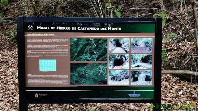 Cartel explicativo de las minas de Castañedo del Monte