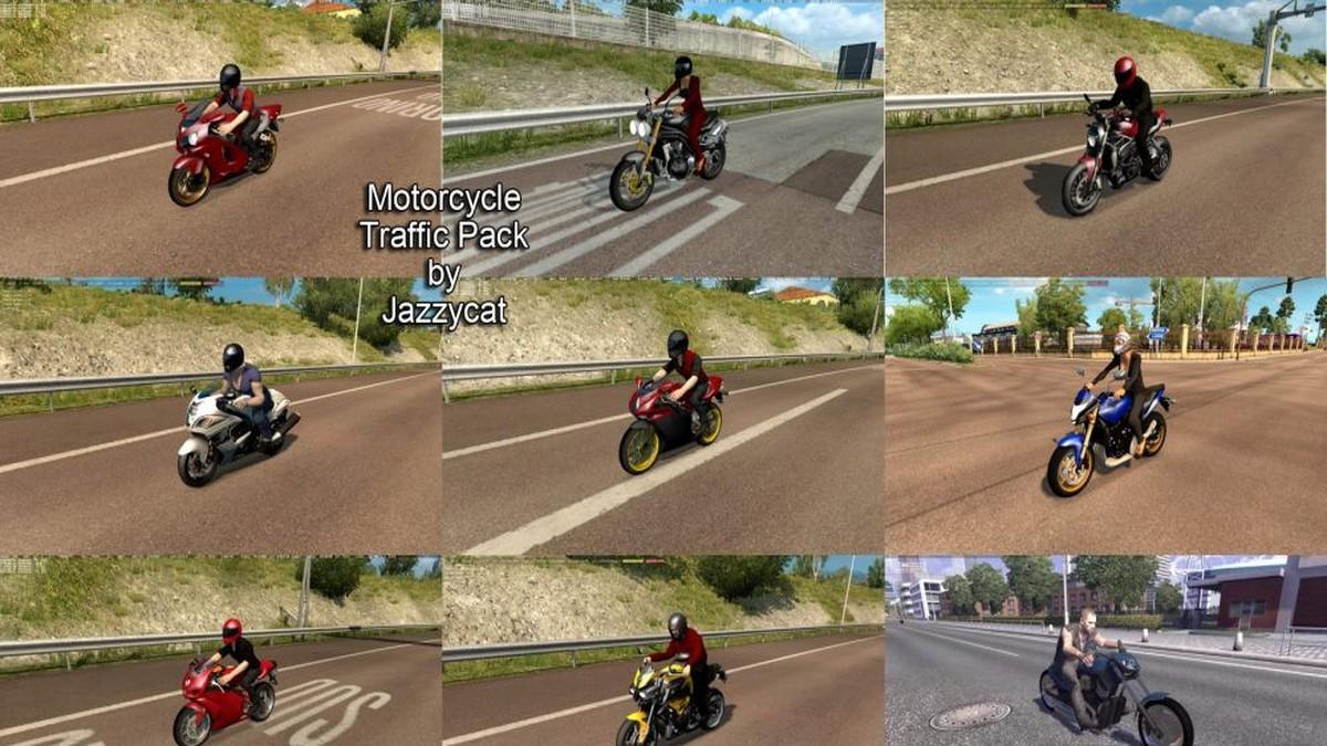 Jazzycat - Motorcycle Traffic Pack v 1.0