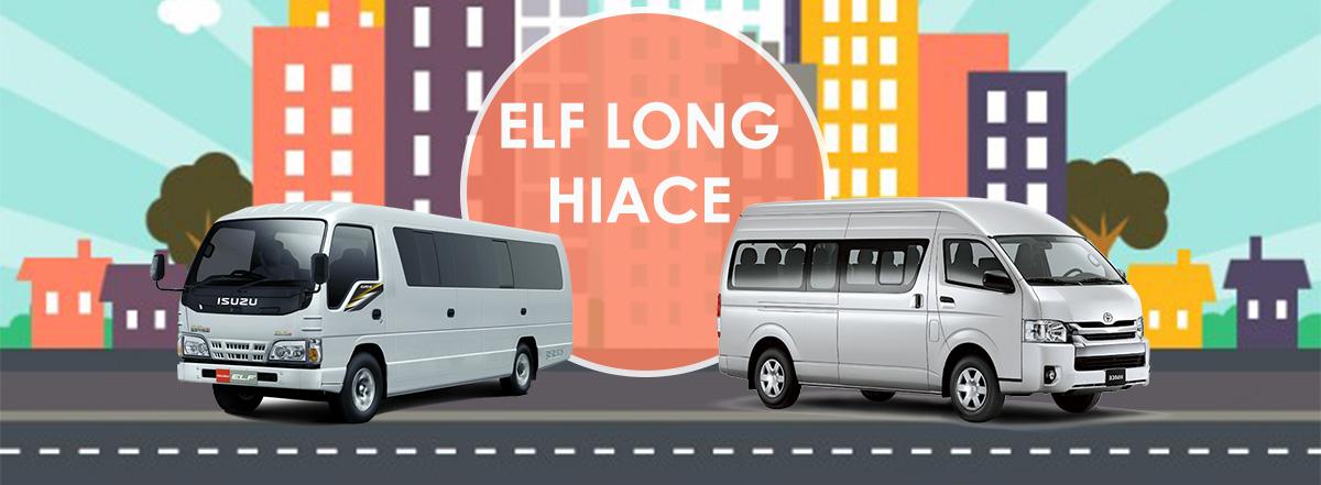 harga sewa elf long, short dan hi-ace commuter surabaya