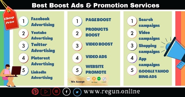 Best Boost Ads & Promotion Services On Facebook,YouTube ,Google Ads & Many More