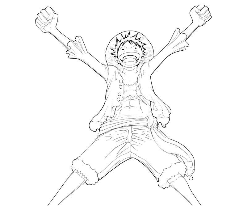 One Piece Monkey D Luffy Happy Temtodasas