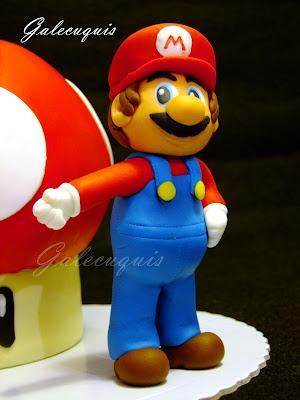 Super Mario modelado fondant