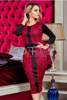 Rochie Inovate Black Bordo