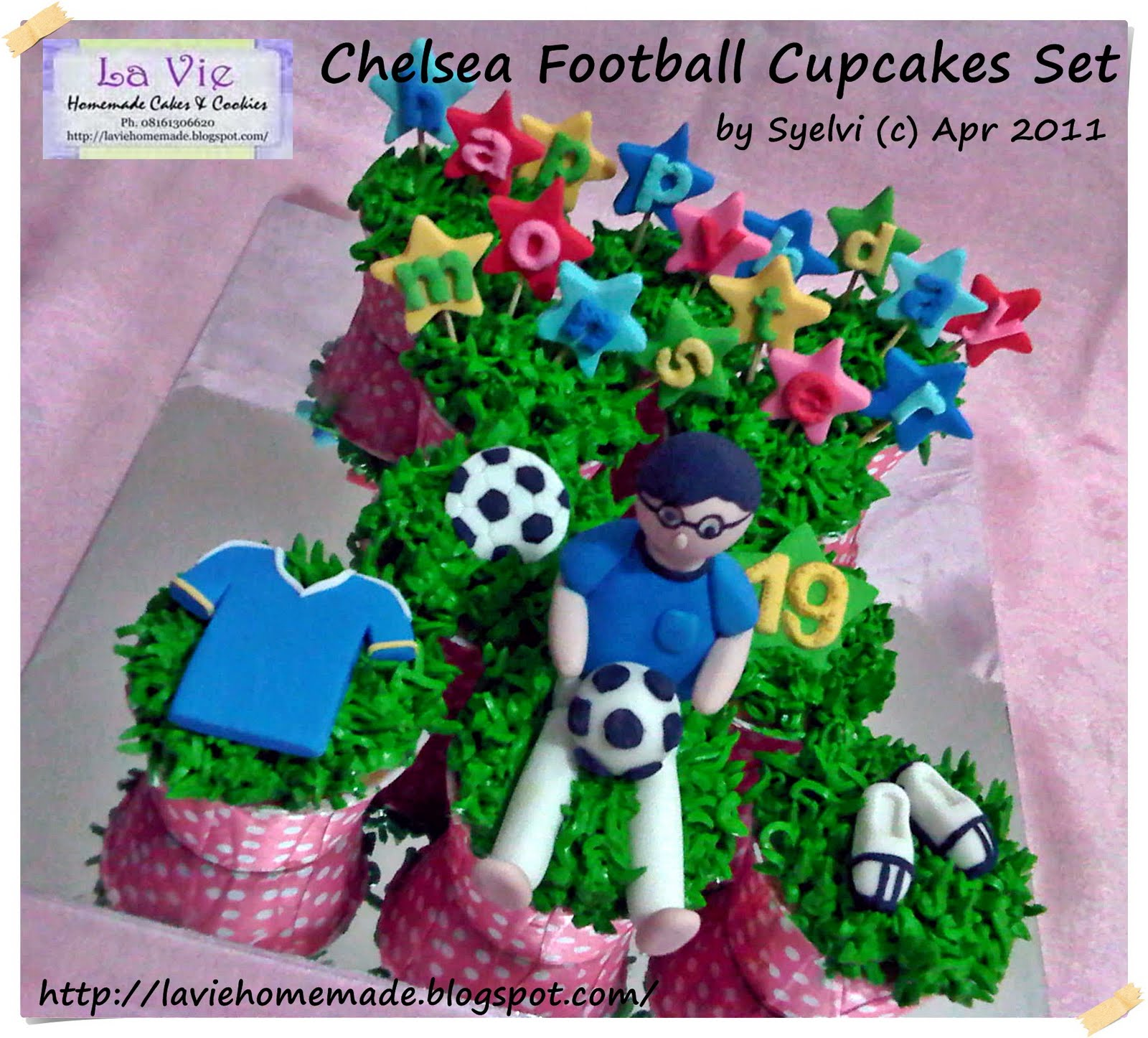 La Vie Homemade Cakes Cookies Chelsea Football Cupcakes Set