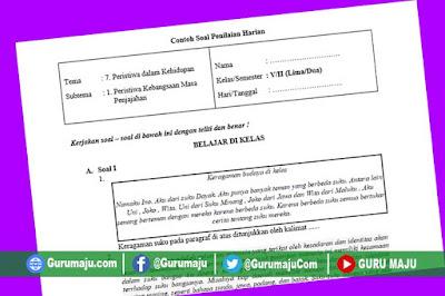 Soal UH / PH Kelas 5 Tema 7 Kurikulum 2013 Revisi Tahun 2019