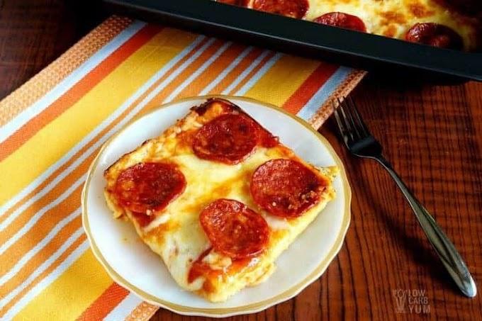 Low Carb Pizza Casserole - Gluten Free #dinnerrecipe #food #amazingrecipe