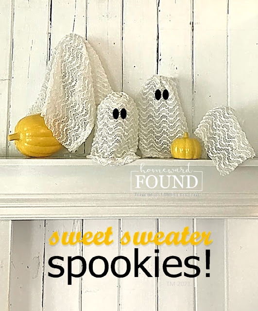 fall,Halloween,Sweet Sweater Originals,sweet sweater spookies,re-purposed,up-cycling,trash to treasure,salvaged,junk makeover,tablescapes,entertaining,just for fun,home decor,DIY,diy decorating,crafting with sweaters,Halloween decor,cute ghosties for Halloween,cute Halloween decor,use what you have decorating,sweater weather.