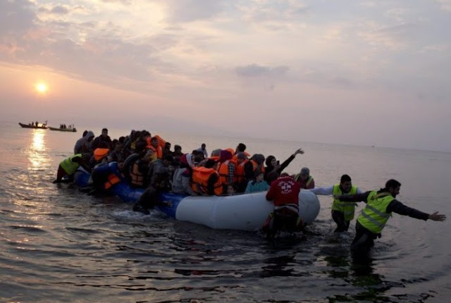 Greek coast guard rescues dozens of migrants on Lesbos island