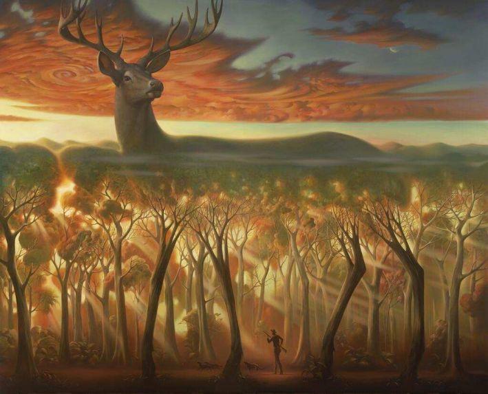 Atrás das Árvores -  Vladimir Kush