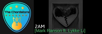 Mark Ranson - 2AM Guitar Chords (ft. Lykee Li) Last Night Feelings |