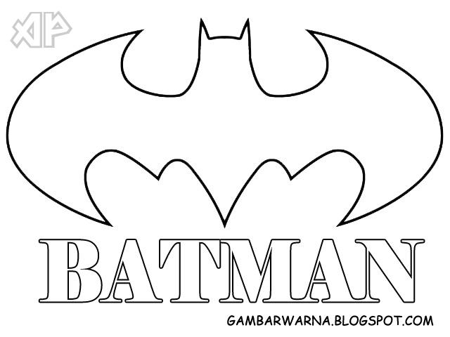 Mewarnai Gambar Logo Batman Belajar Mewarnai Gambar