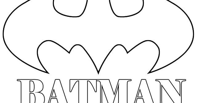 Mewarnai Gambar Logo Batman