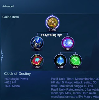 penjelasan lengkap item mobile legends item clock of destiny