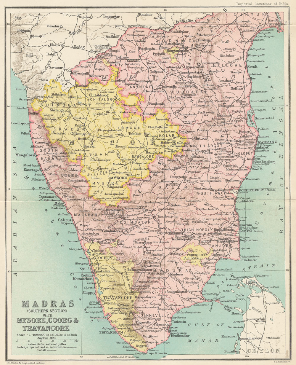 Madras India Map.Enjoy Reading Old Map India Madras