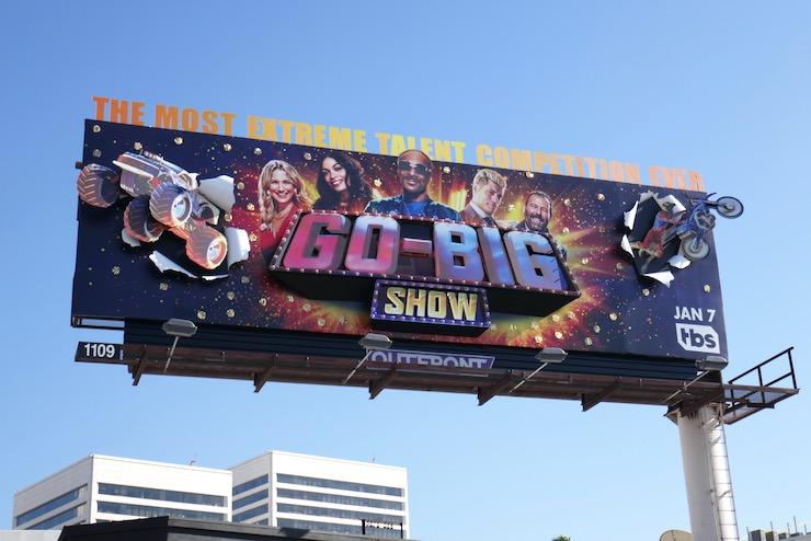 Go Big Show TBS launch billboard