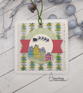 Santa Village Tag a project by Diane Morales | Snow Globe Scenes Stamp Set by Newton's Nook Designs