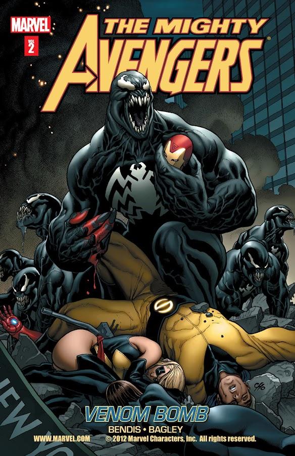 mighty avengers venom bomb marvel comics brian michael bendis mark bagley