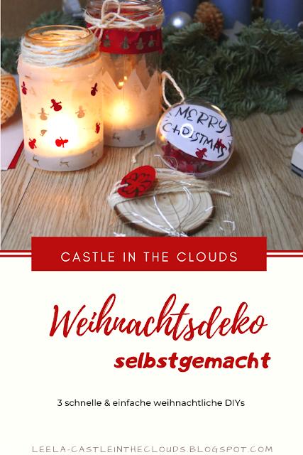 DIY Last Minute Weihnachtsdeko - Schnell und einfach selbstgemacht Pinterest
